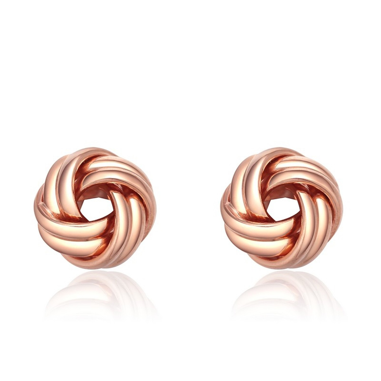 Jewelry Rose Gold Plated Sterling Sliver Hoop Stud Fashion Earrings For Women
