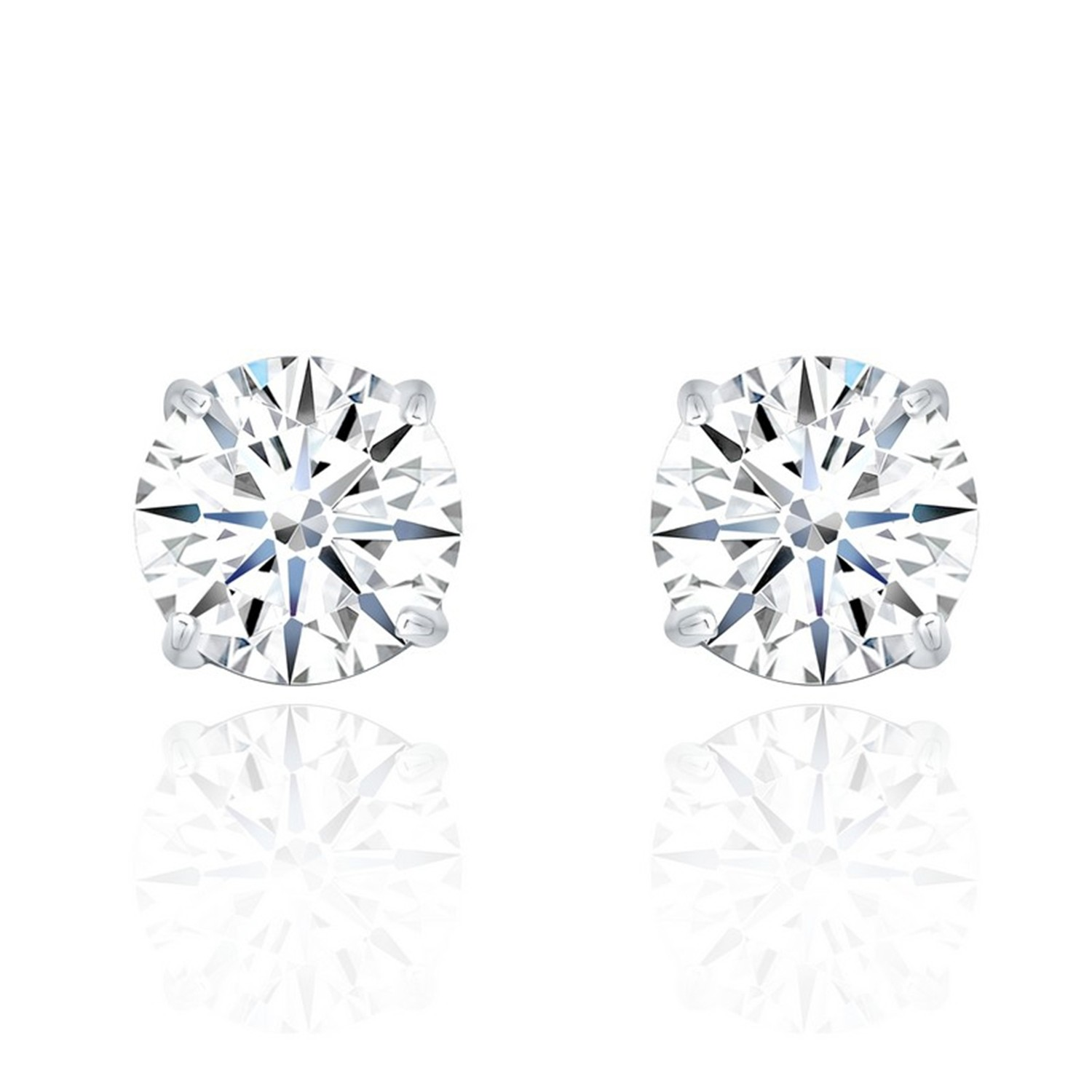 Simple 925 sterling silver cubic zirconia stud earrings cheap women jewelry wedding accessories